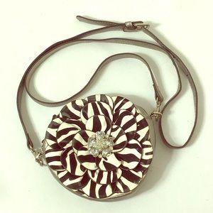 Handbags - Jeweled Flower Mini Crossbody